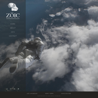 Zoic Studios- Advancing the story, art and technology of the moving image
