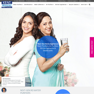 KENT RO Systems - Water Purifiers & Home Appliances