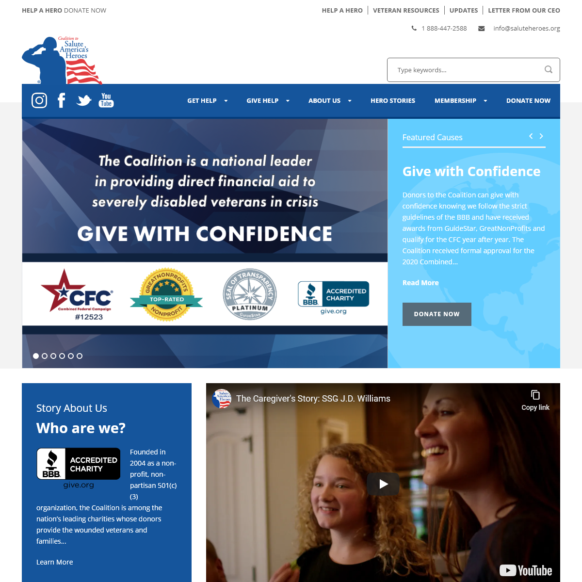 Wounded Veteran Organization - Coalition to Salute America's Heroes