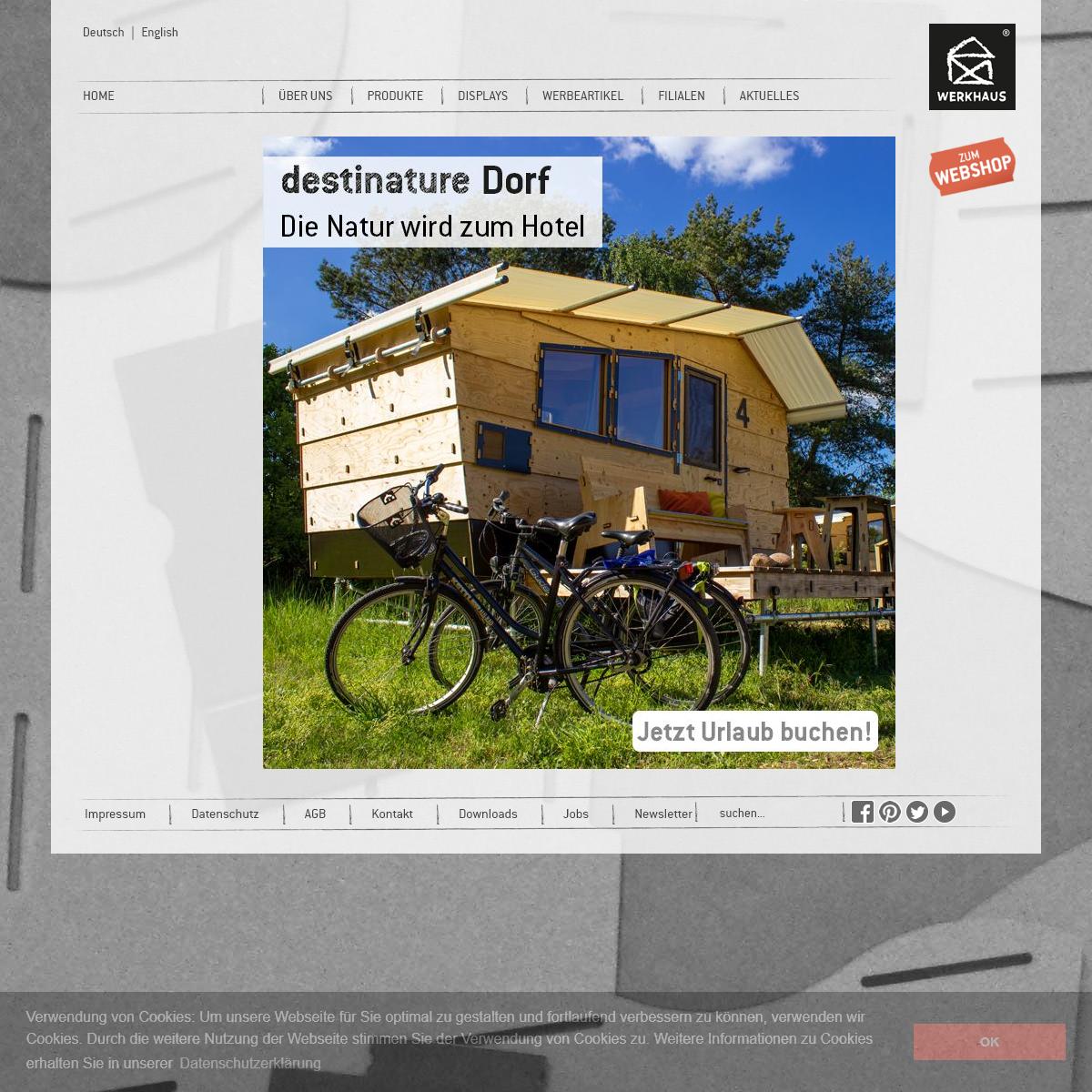 WERKHAUS - Nachhaltige Produkte fürs Büro und Zuhause & Warendisplays