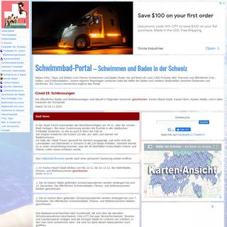 Hallenbäder, Freibäder, Erlebnis- u. Thermalbäder, Saunen der Schweiz