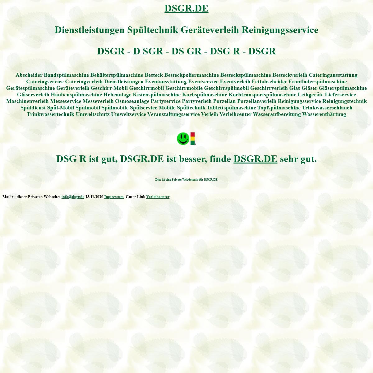 dsgr Dienstleistungen Spültechnik Geräteverleih Reinigungsservice Spülmobil Verleih Geschirrmobil Mieten