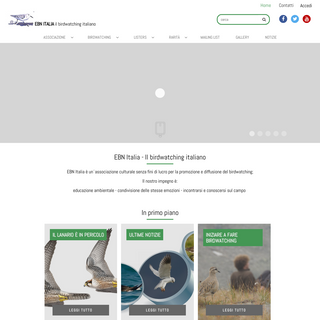 EBN Italia - EBN Italia - Il birdwatching italiano - Birdwatching - birding Italy - uccelli d'Italia- birdwatching Italia- orn