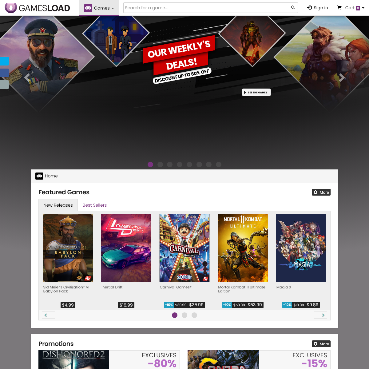Buy PC games, Steam key, Uplay, Epic and more on Gamesload