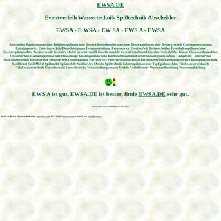 ewsa Eventverleih Wassertechnik Spültechnik Abscheider Spülmobil Verleih Geschirrmobil Mieten