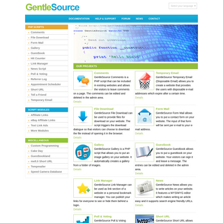 PHP Scripts - GentleSource PHP Scripts