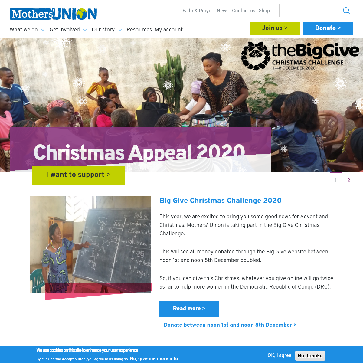 Homepage - Mothers` Union