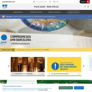 Web oficial Park Güell - Barcelona