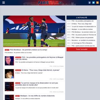 PSG l`info par Paristeam - Paris Saint Germain - mercato, infos et transfert depuis 2005 avec l`incontournable du PSG