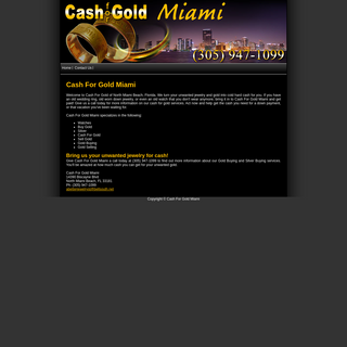 Cash for Gold Miami - North Miami Beach, FL - watches, sell gold, buy gold, cash for gold, silver