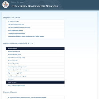 New Jersey Government Services