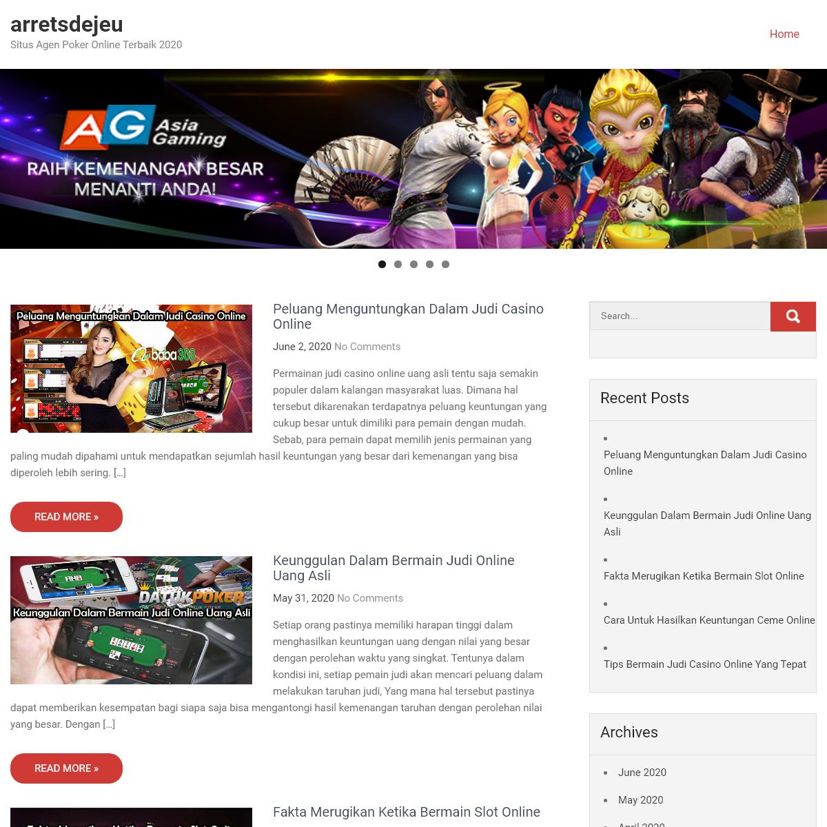 arretsdejeu – Situs Agen Poker Online Terbaik 2020