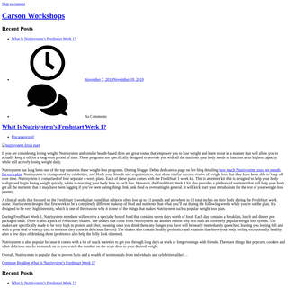 Carson Workshops