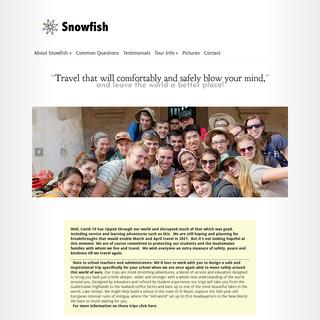 Snowfish - Changing the world through travel