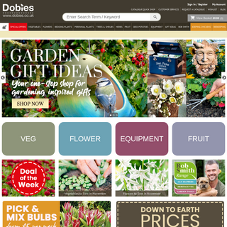 Dobies The keen Gardener`s Choice for Seeds, flowers and plants. - Dobies