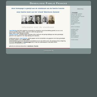 Stamboom Francke