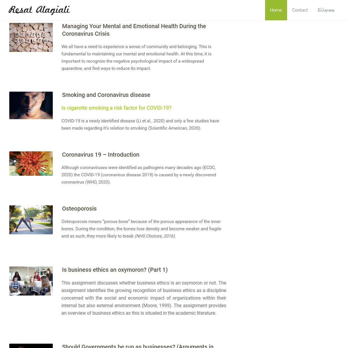Resat Alagiali - Health, Business & Wellness