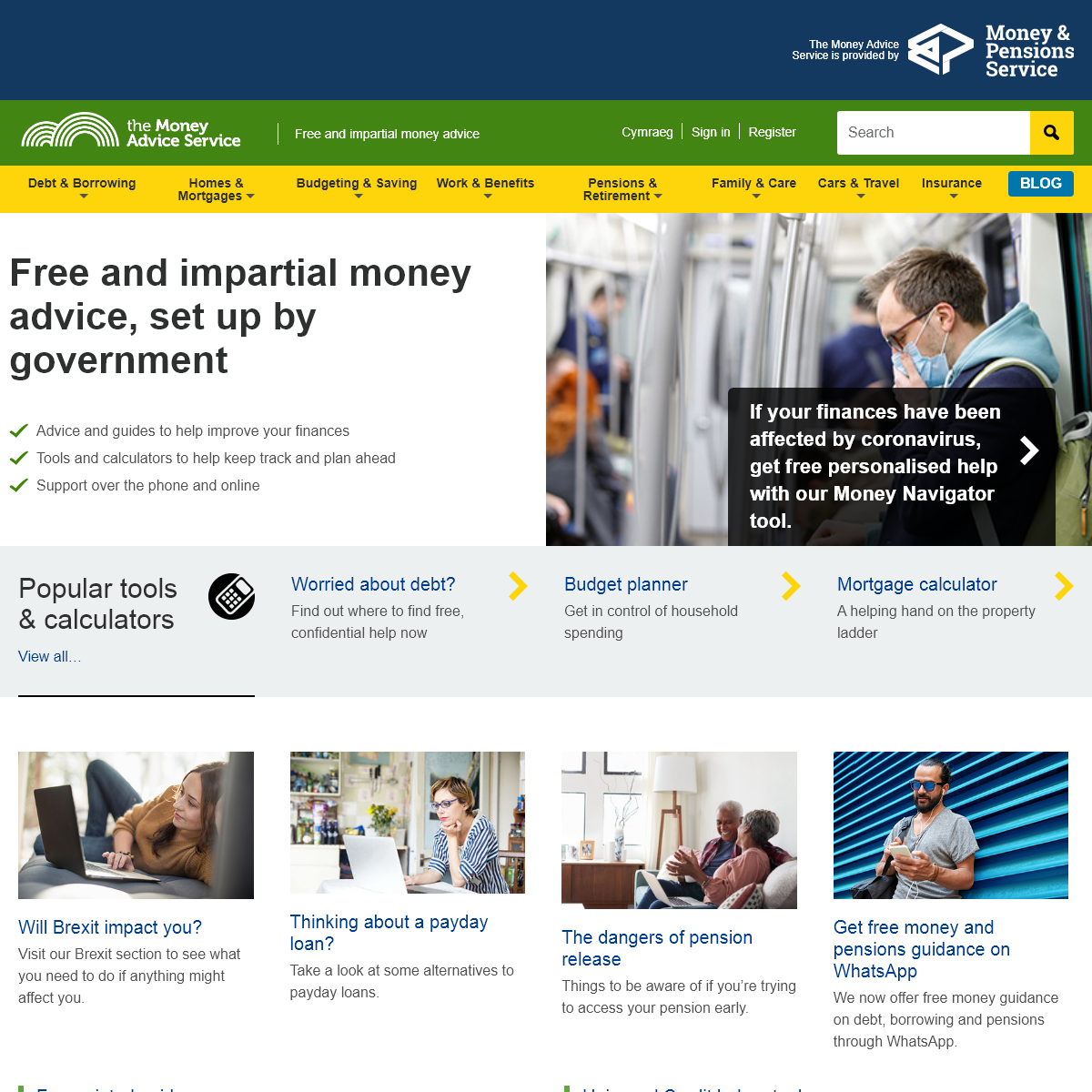 Free and impartial money advice, set up by government - Money Advice Service