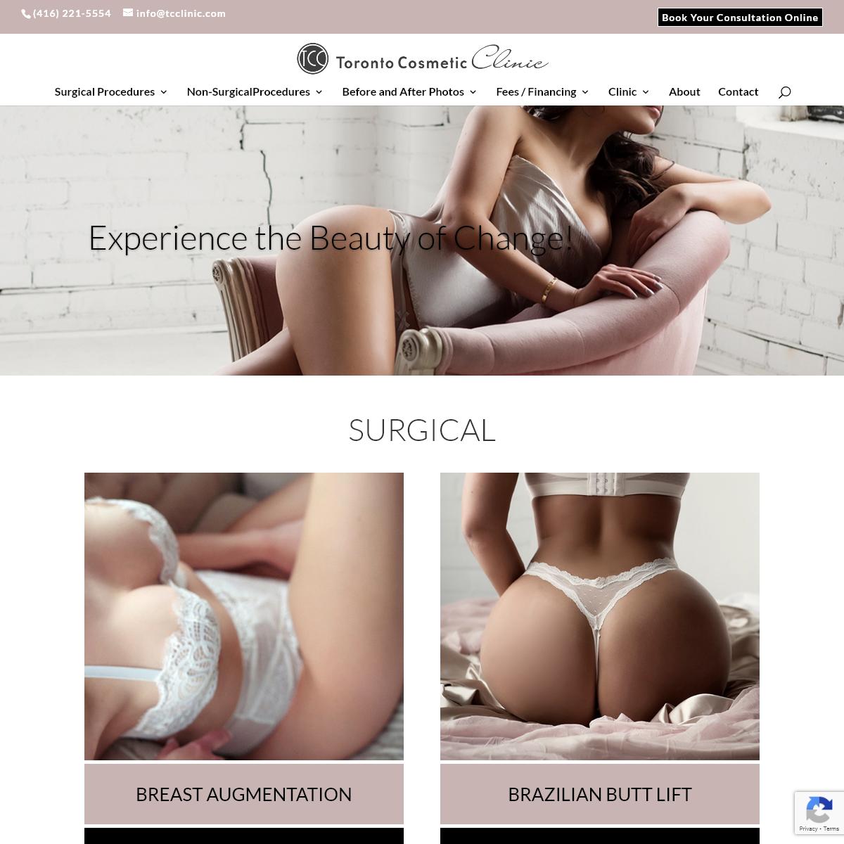 Toronto Cosmetic Clinic - Plastic Surgery - Non Surgical Procedure - TCC