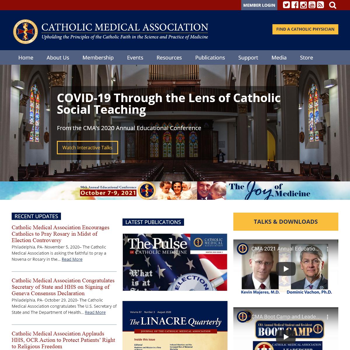 Catholic Medical Association - Catholic Medical Association - Catholic Medical Association