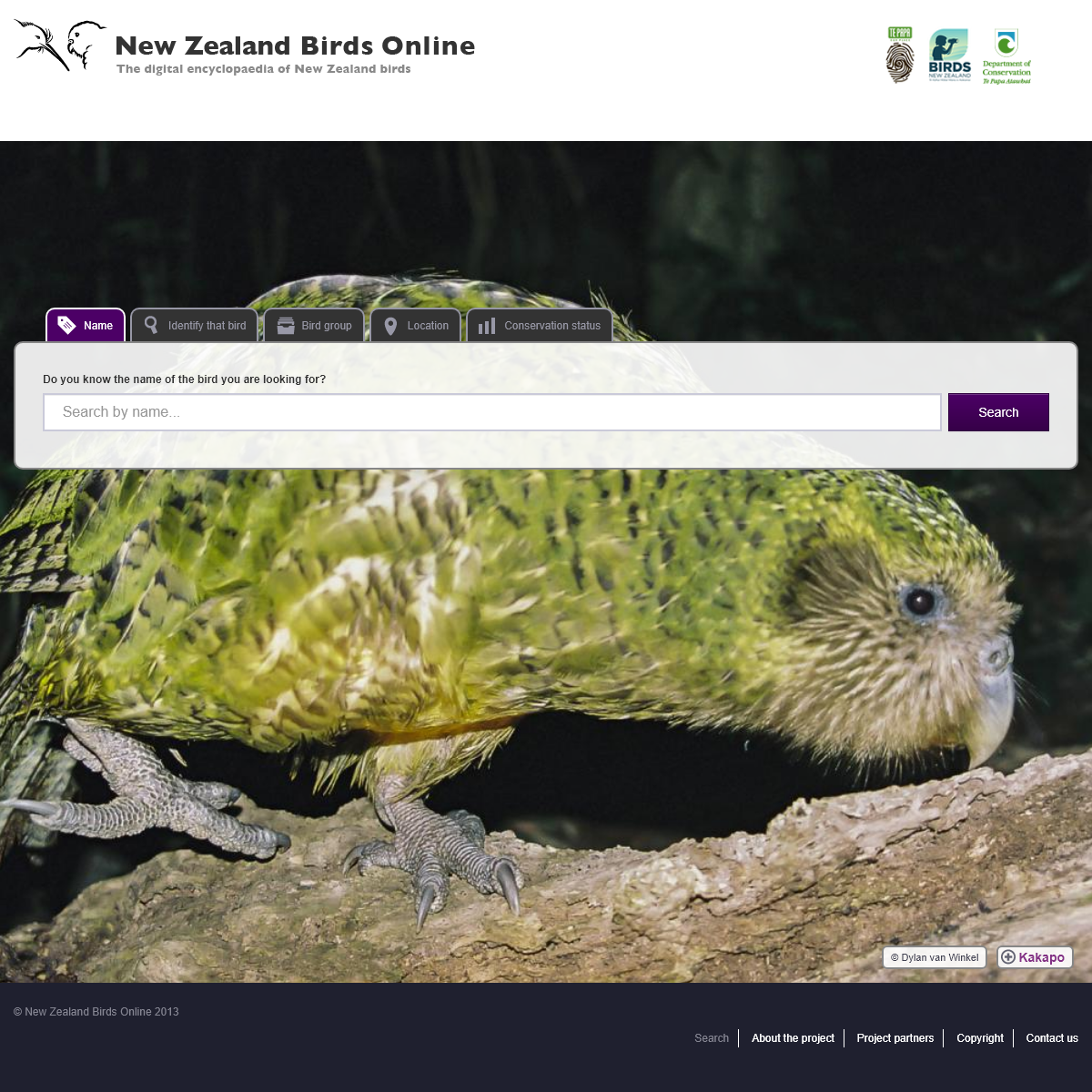 Home page - New Zealand Birds Online