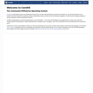 Welcome to CentOS