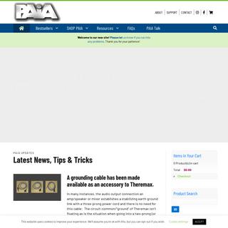 PAiA Home - PAiA - DIY Music & Sound Electronics Kits - Synthesizer, Theremin, Studio