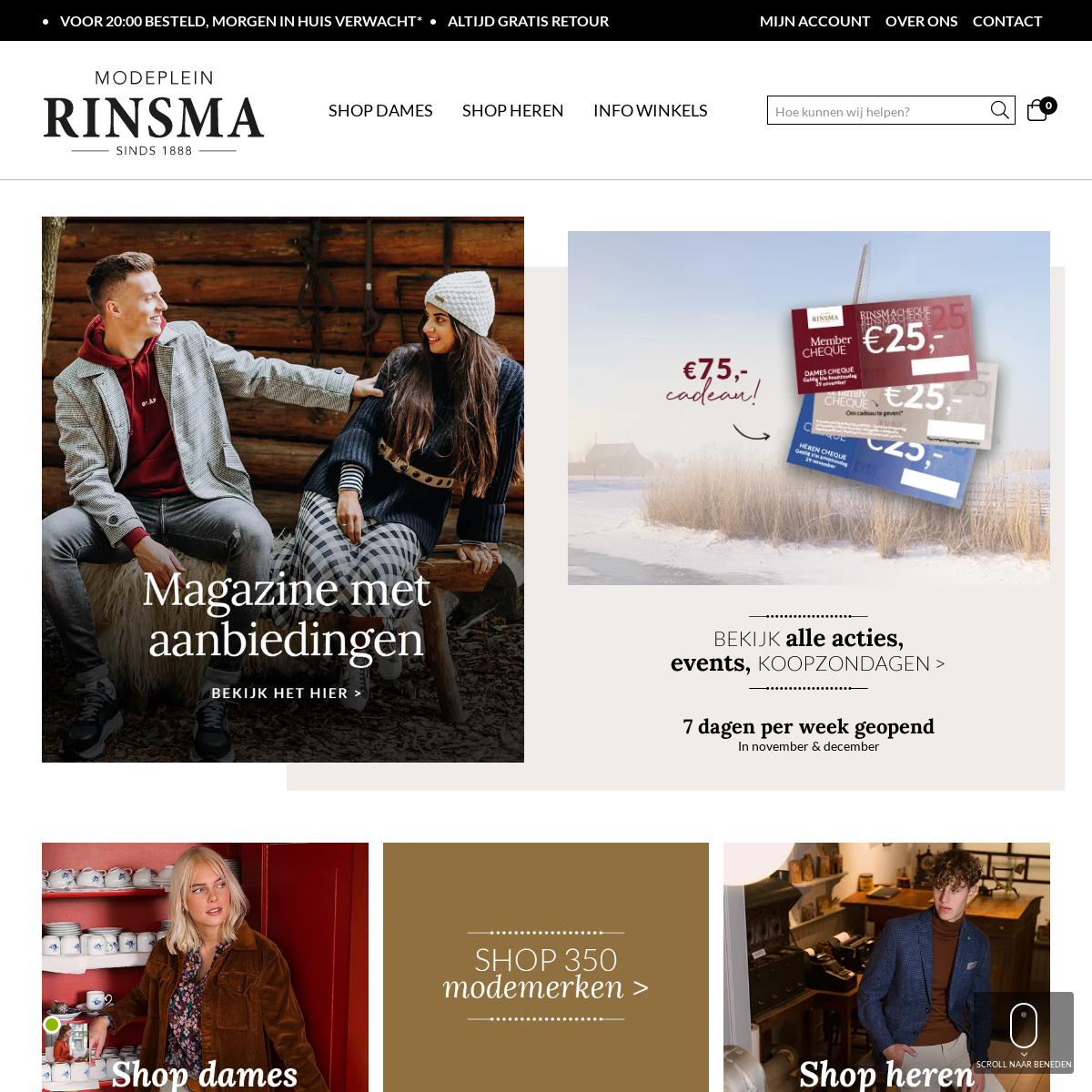 RINSMA MODEPLEIN - Hét modeplein van Nederland
