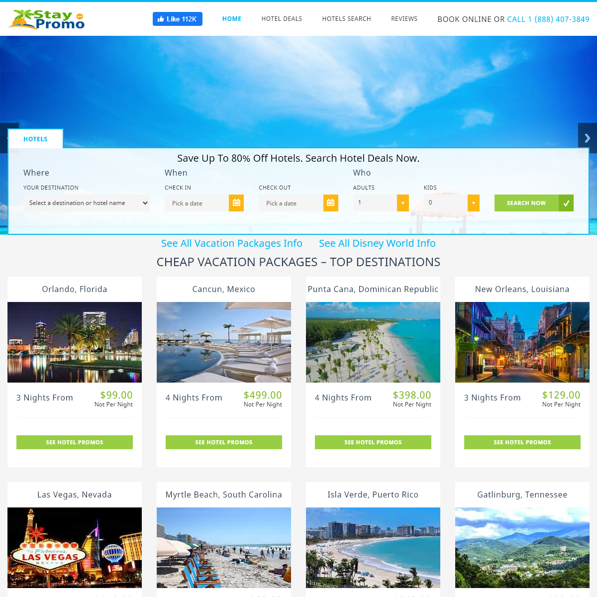 StayPromo - Stay Promo Cheap Vacation Packages Discount Hotel Deals