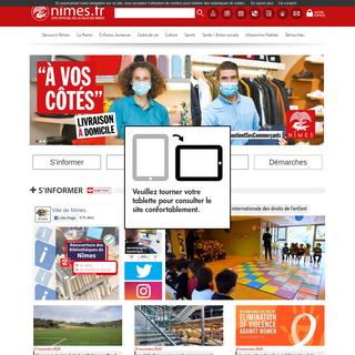 Site officiel de la Ville de Nîmes.