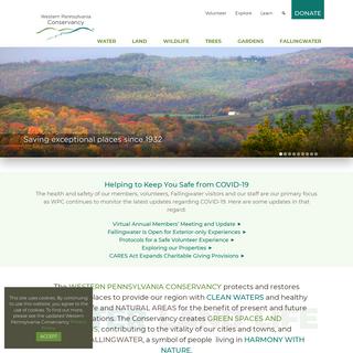 WPC Homepage - Western Pennsylvania Conservancy