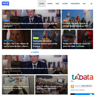 MCE TV - Le site d`information de référence pour les jeunes et les étudiants. MCE TV commente quotidiennement l`actualité à