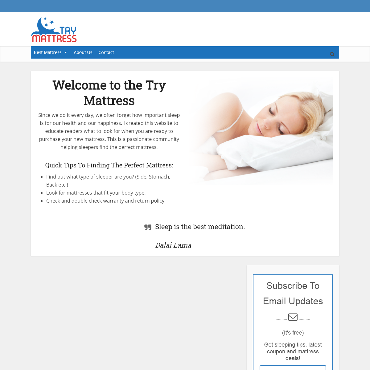 Try Mattress - Product Guides & Sleep Advice