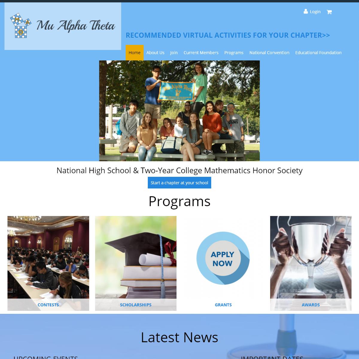 Mu Alpha Theta - National High School & Two-Year College Mathematics Honor Society