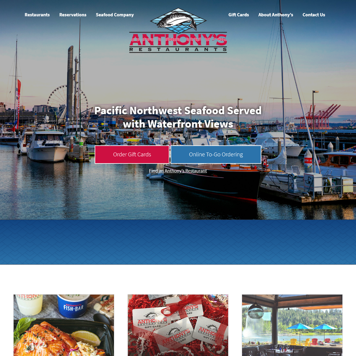 Anthony`s Restaurants - The Premier Seafood Dining Experience