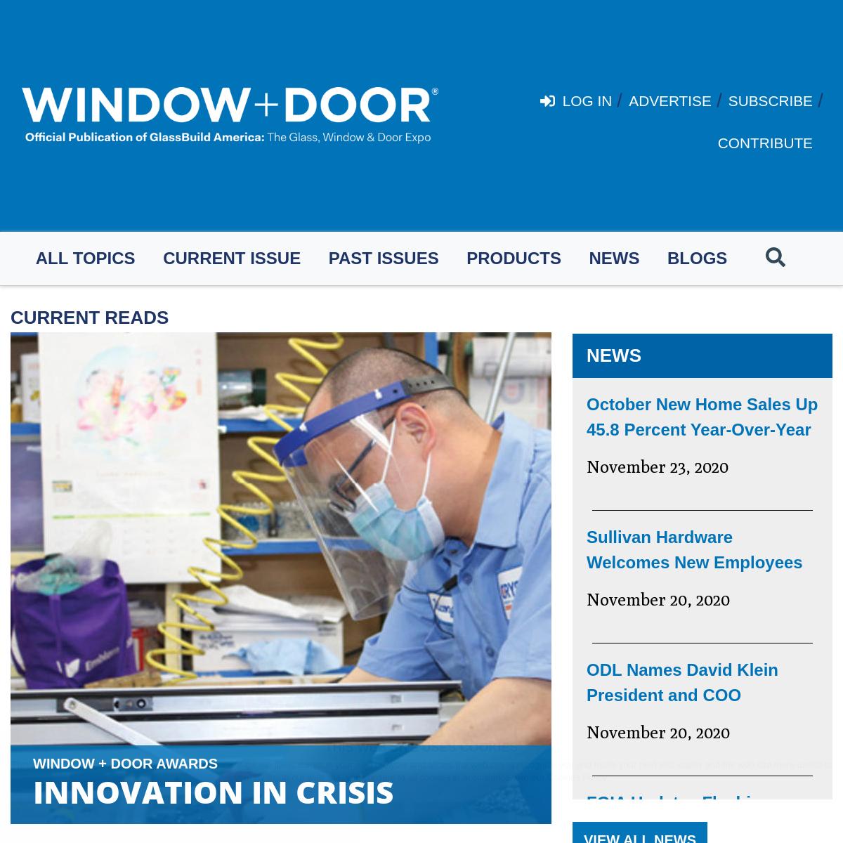 Homepage - Window + Door
