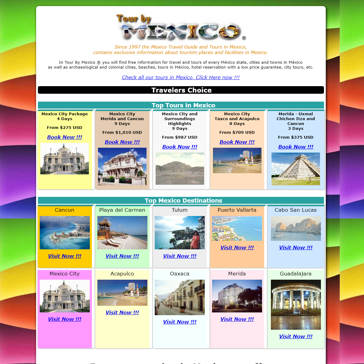 Tour By Mexico - The Mexico Travel Guide and Tours in Mexico, hotels and more.
