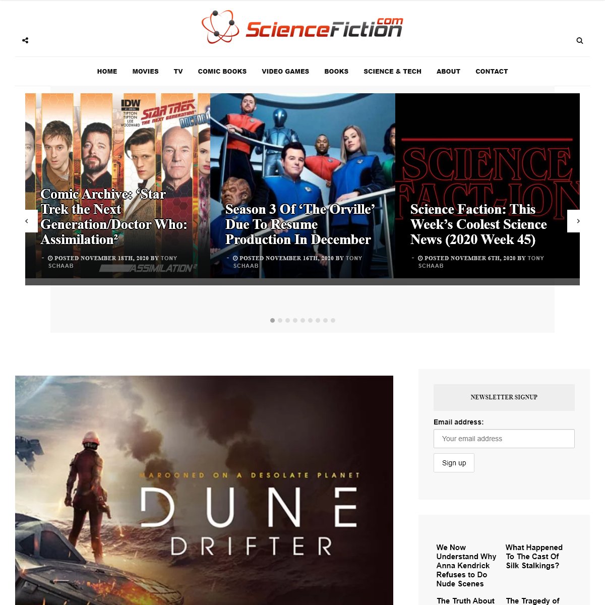 ScienceFiction.com - Science Fiction (sci-fi) news, books, tv, movies, comic books, video games and more...