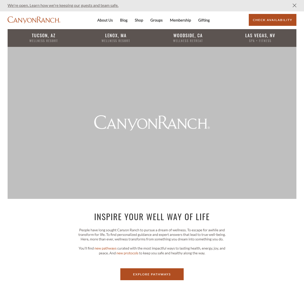 Wellness Resorts, Luxury Spas, & Retreats - Canyon Ranch