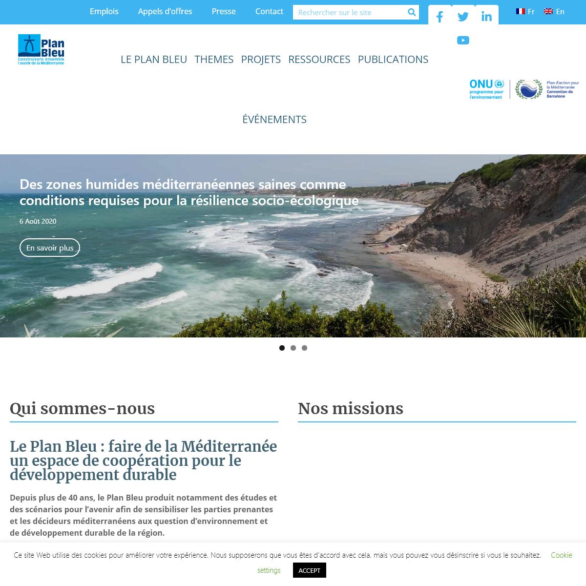accueil - Plan-bleu - Environnement et développement en Méditerranée