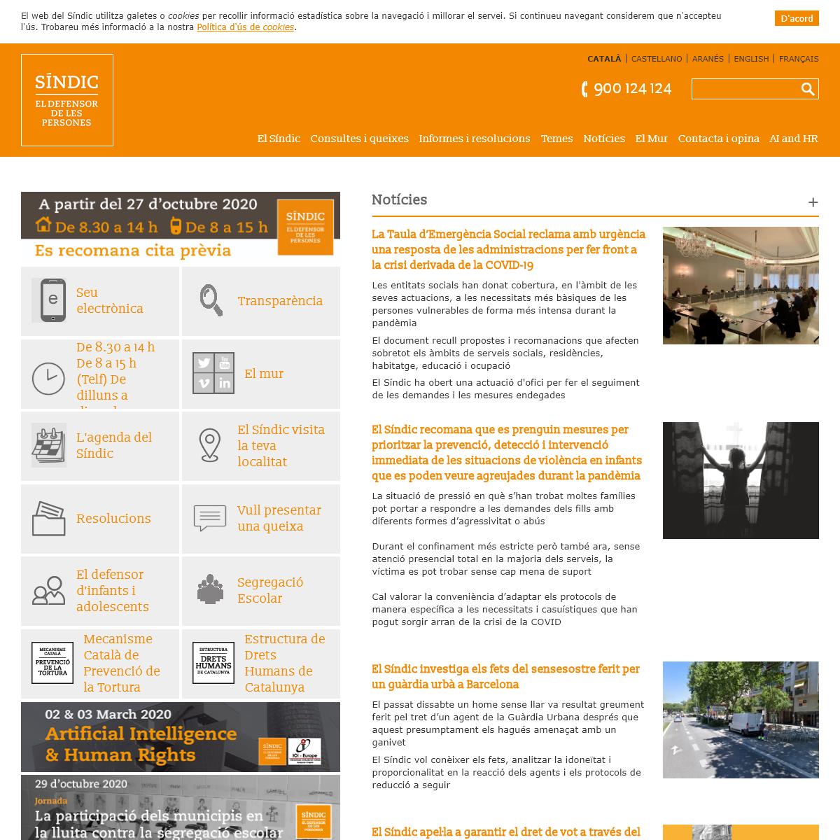 Síndic de Greuges de Catalunya - El defensor de les persones