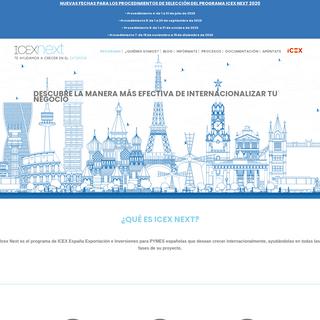 ICEX Next - Programa de apoyo a la internacionalización de la PyME
