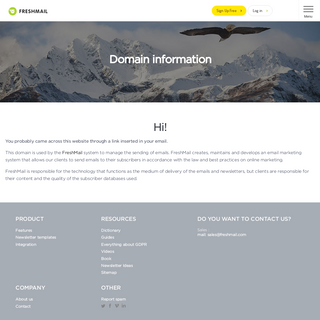 Domain information - FreshMail