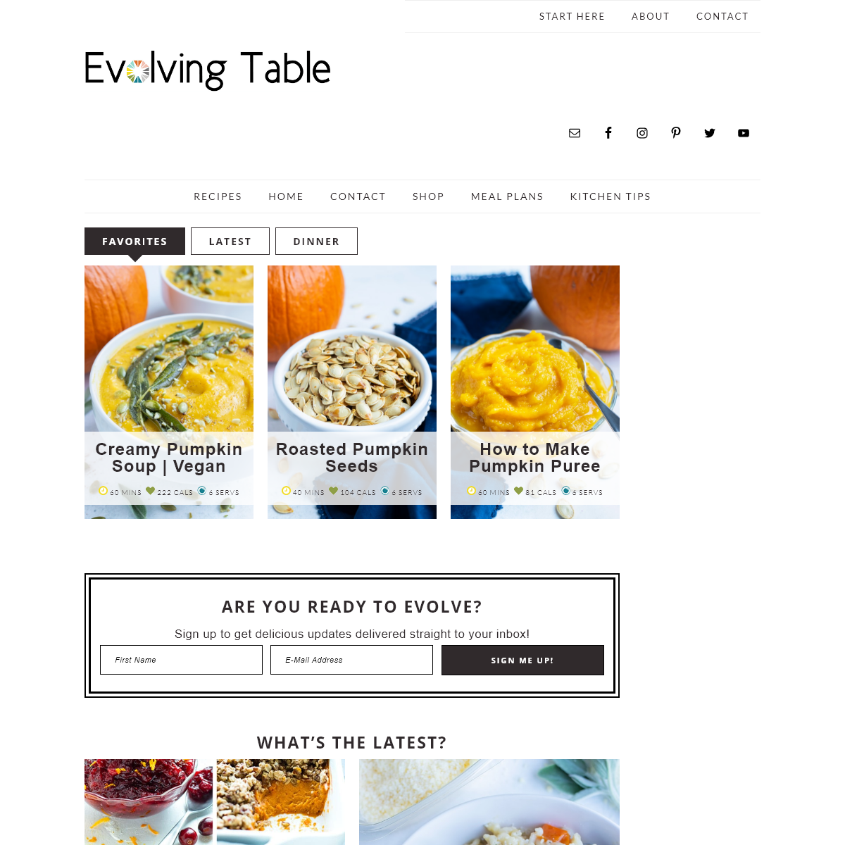 Evolving Table - Healthy, Simple, Family-Friendly Recipes