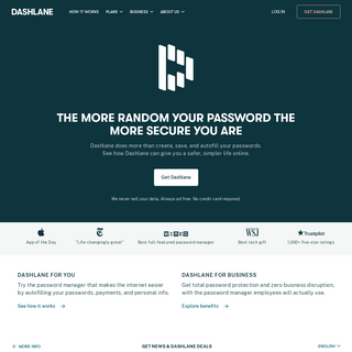 Password Manager App for Home, Mobile, Business - Dashlane