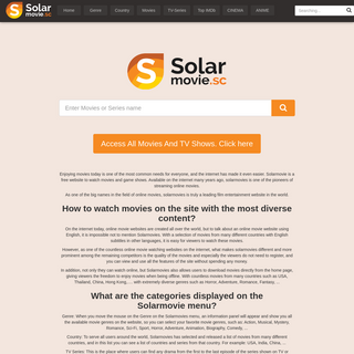 Solarmovie.mom - Watch FREE Movies Online & TV shows on Solarmovies
