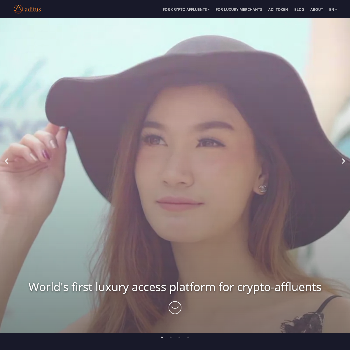 World`s first luxury access platform for crypto-affluents - Aditus
