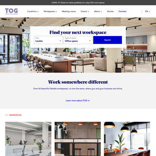 Office Spaces, Co-working, Lounges & Meeting Rooms - TOG