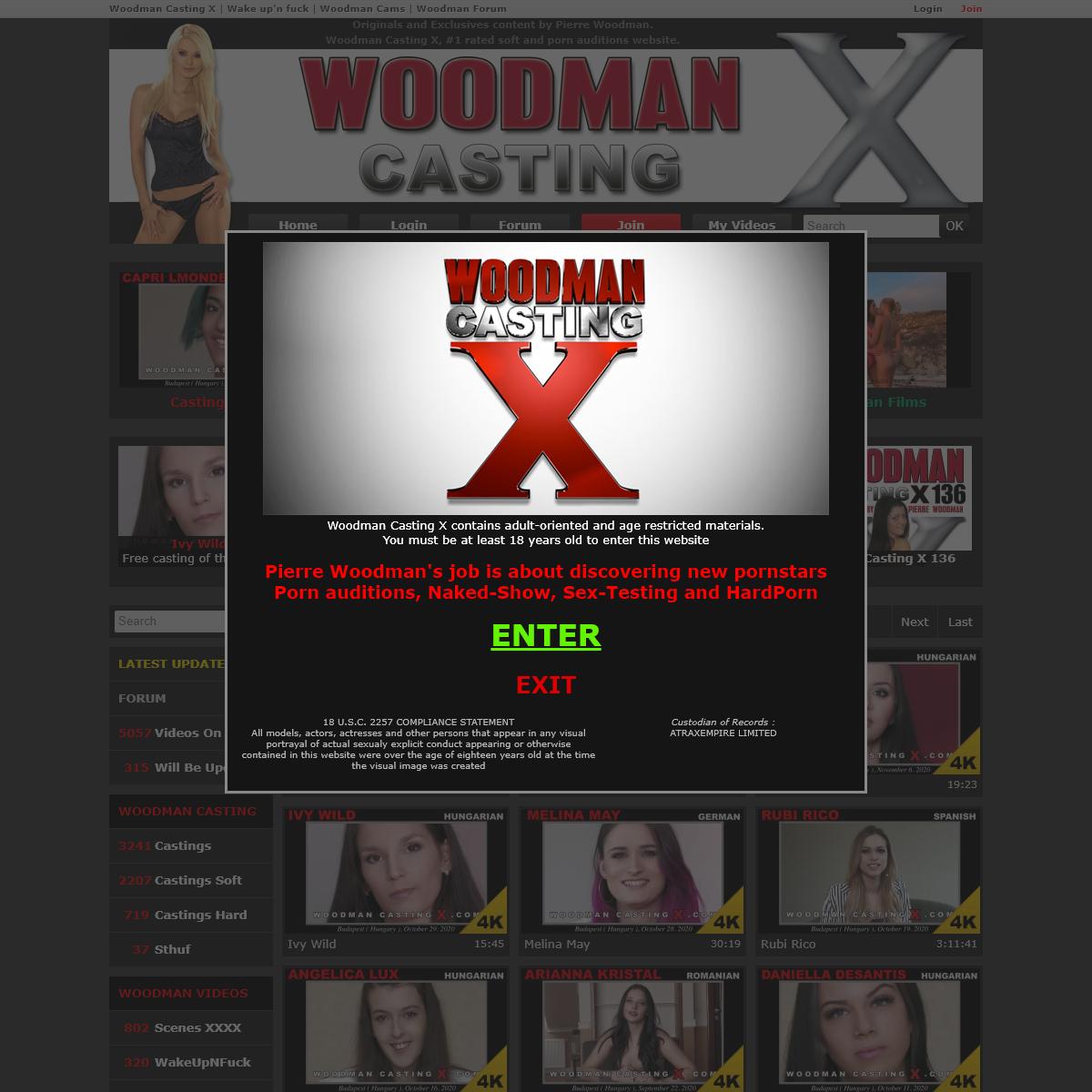 A complete backup of www.woodmancastingx.com