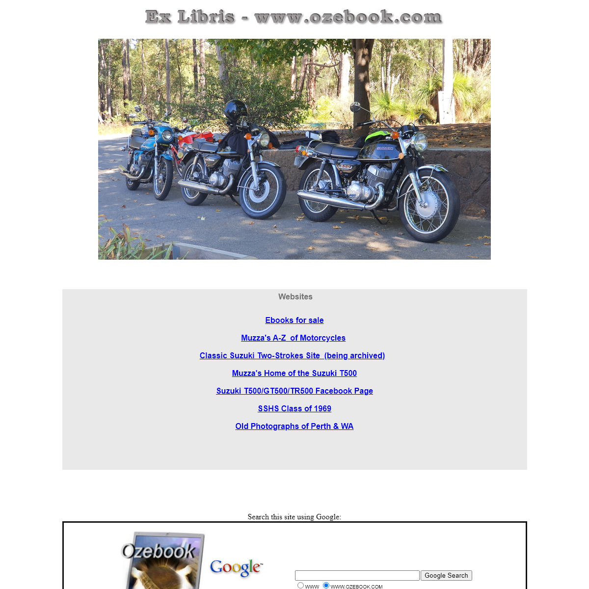 Ex-Libris Ozebook, rare, out-of-print, collectible, historic and original electronic books (ebooks, e-books or digital books) on